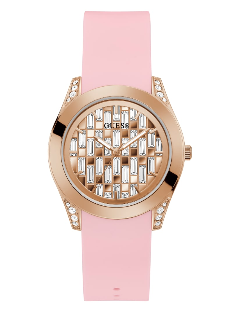 Rose Gold-Tone Crystal Analog Watch