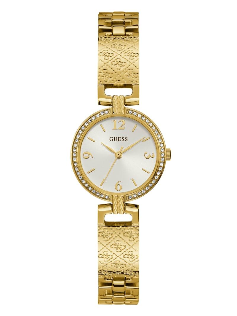 Gold-Tone Logo Bangle Watch