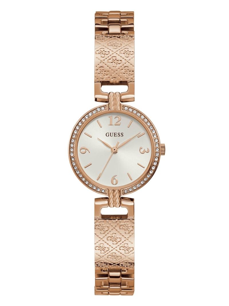 Rose Gold-Tone Logo Bangle Watch