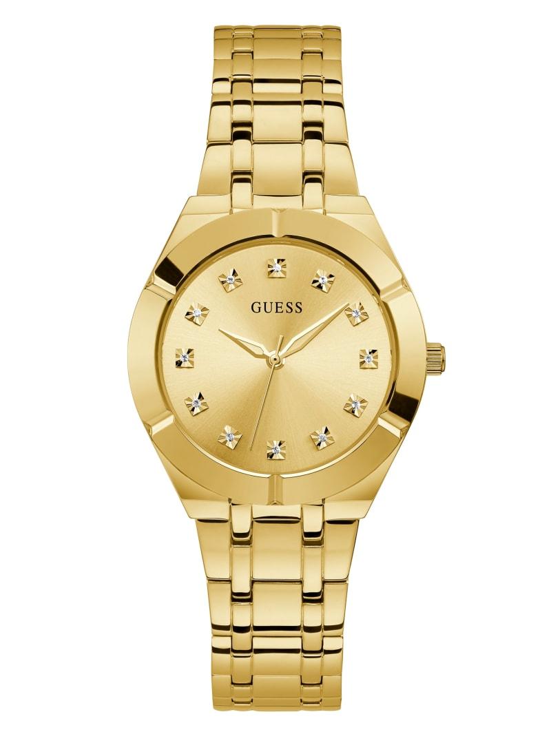 Gold-Tone and Diamond Analog Watch