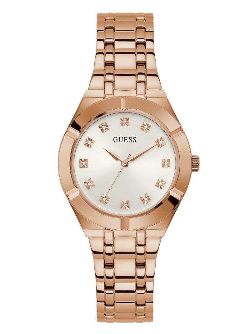Rose Gold-Tone and Diamond Analog Watch