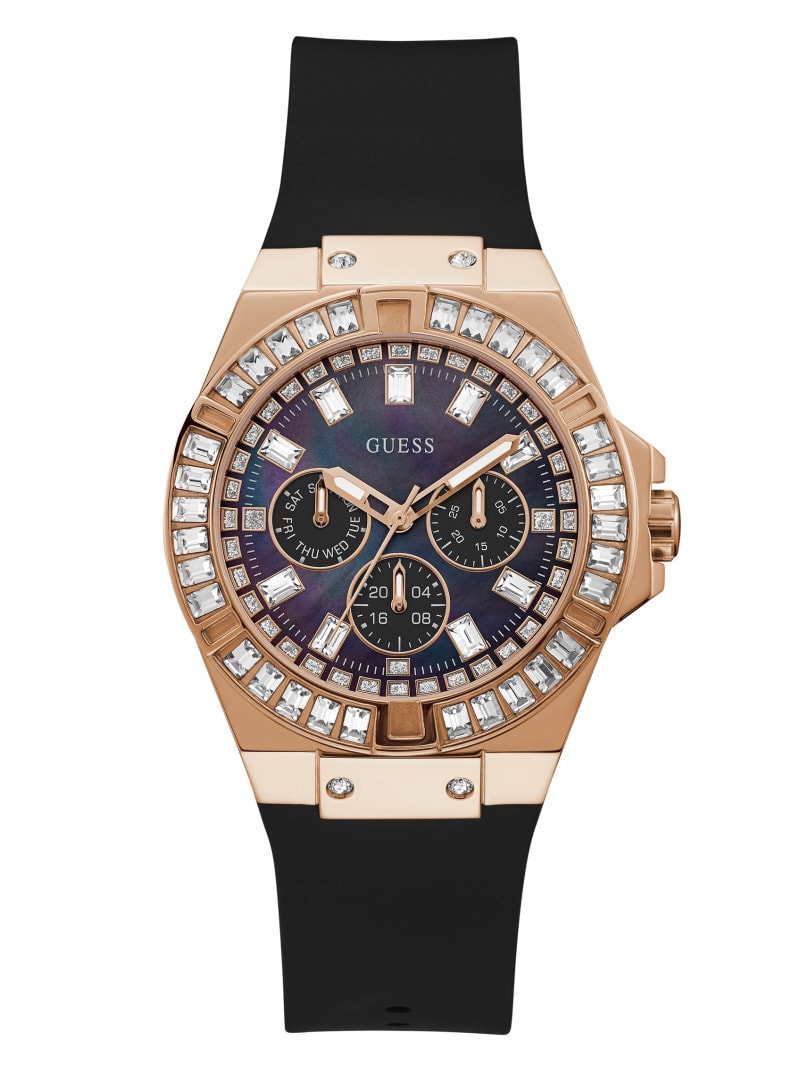 Crystal Rose Gold-Tone Multifunction Watch