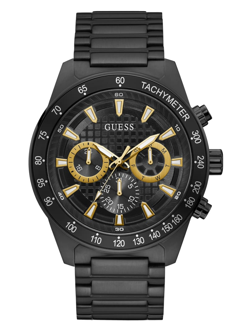 Black And Gold-Tone Multifunction Watch