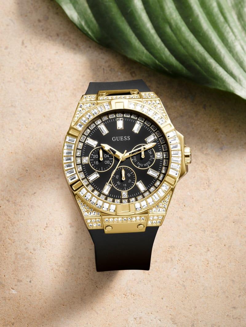 Oversized Gold-Tone Multifunction Watch