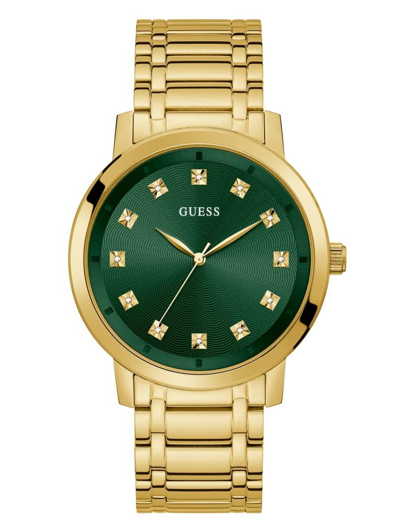 Paragon Gold-Tone and Green Analog Watch
