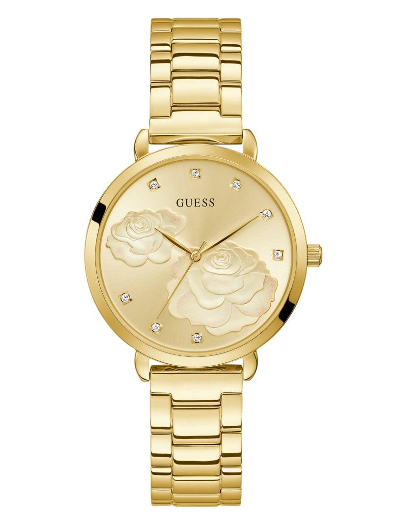 Gold-Tone Rose Analog Watch