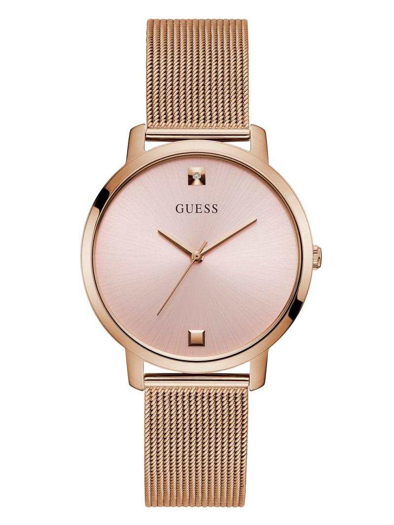 Rose Gold-Tone And White Diamond Analog Watch