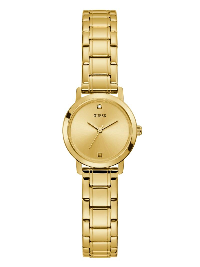 Gold-Tone Diamond Analog Watch