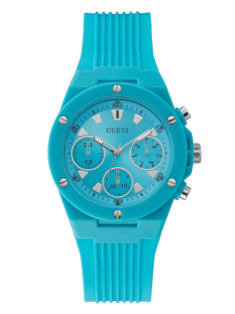 Turquoise Silicone Chronograph Watch