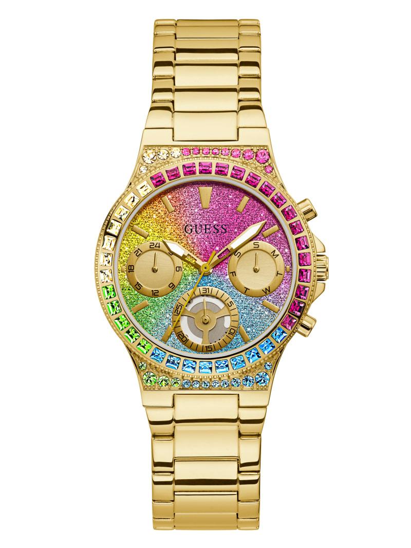 Rainbow Rhinestone Multifunction Watch