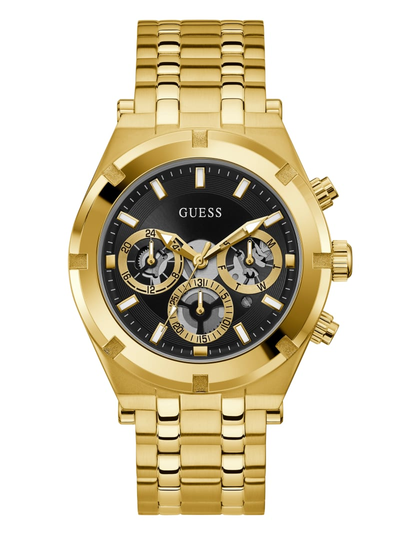 Gold-Tone Multifunction Watch