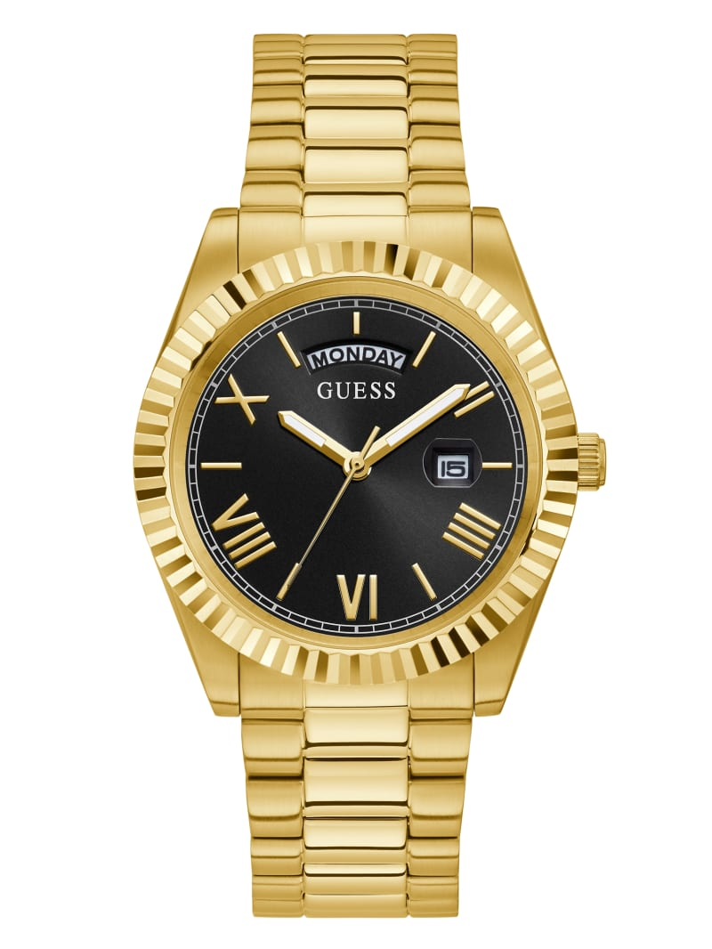 Connoisseur Gold-Tone and Black Analog Watch
