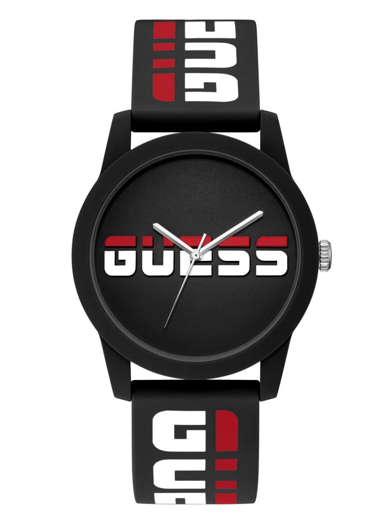Black Logo Analog Watch