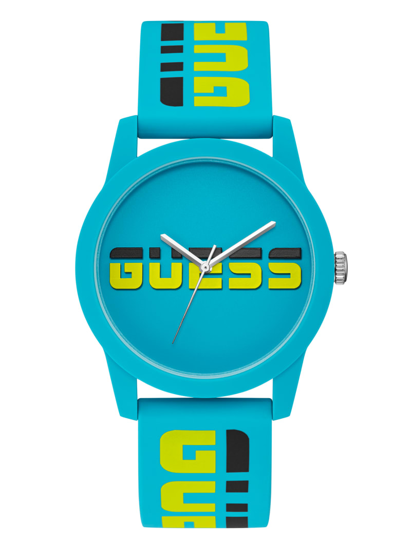 Turquoise Logo Analog Watch