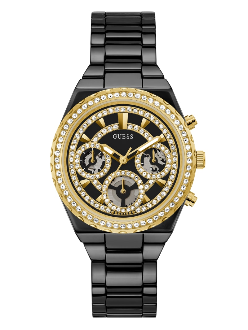 Gold-Tone and Black Ceramic Multifunction Watch