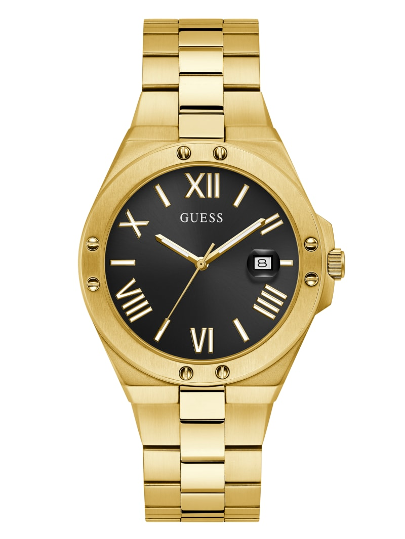 Perspective Gold-Tone and Black Analog Watch