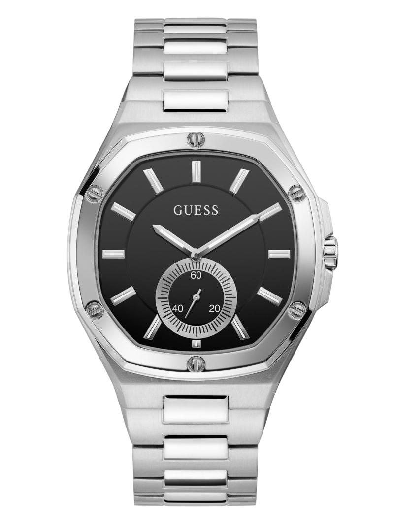 Black and Silver-Tone Analog Watch