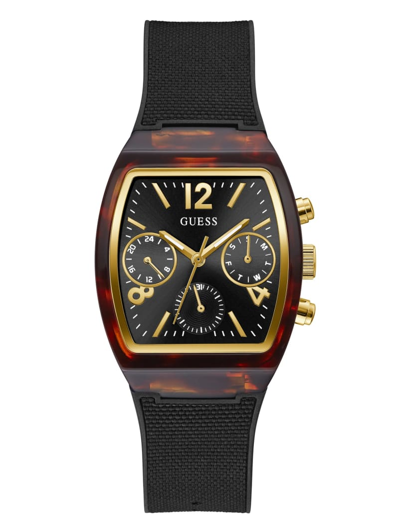 Tortoise and Black Multifunction Watch