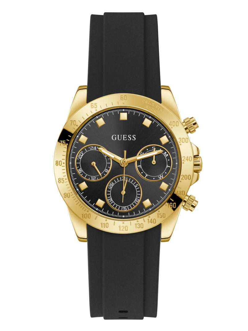 Black and Gold-Tone Chronographic Watch