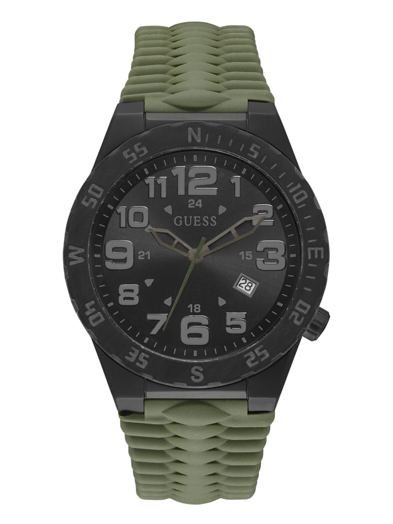 Olive And Black Multifunction Watch