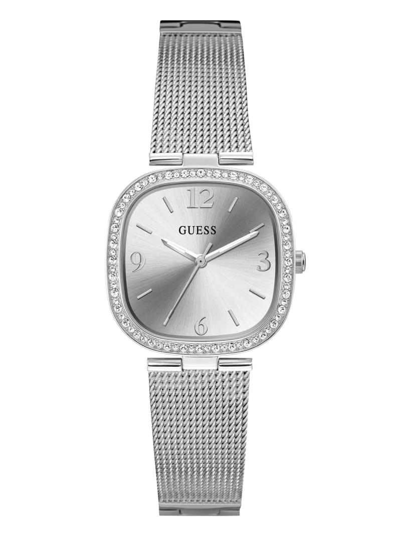 Silver-Tone Mesh Analog Watch