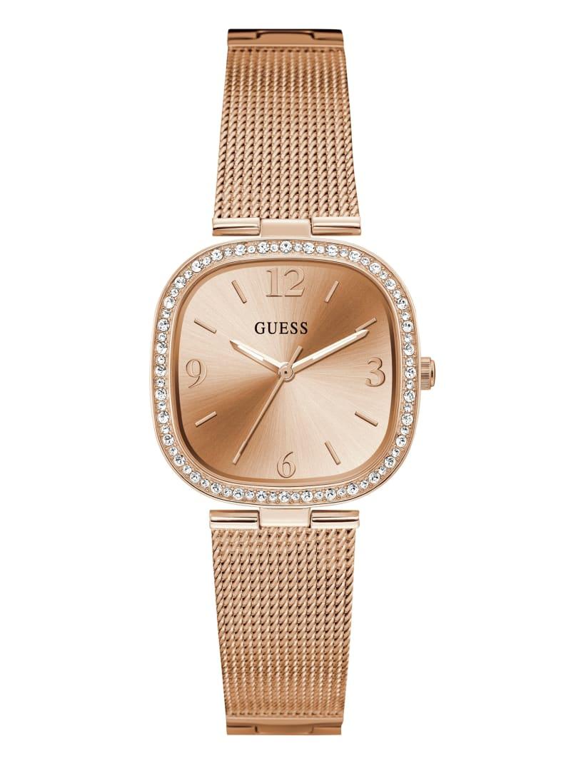 Rose Gold-Tone Mesh Analog Watch