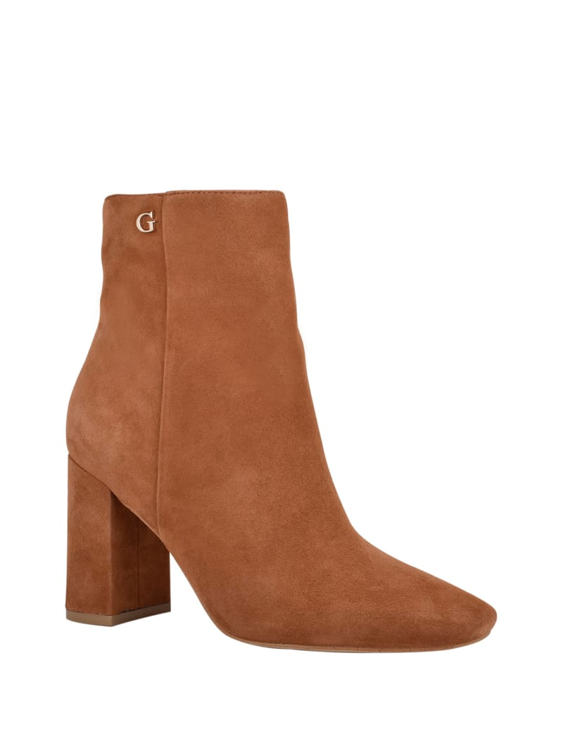 Adelia Faux-Suede Ankle Booties