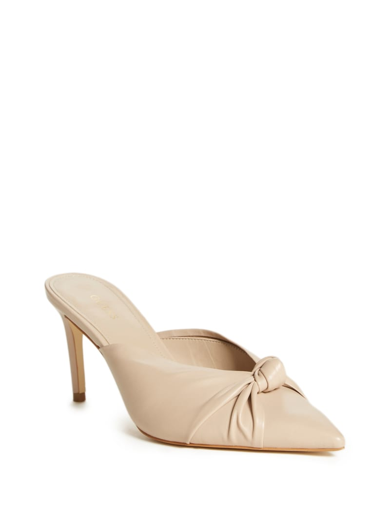 Knot Front Pointed Toe Mules