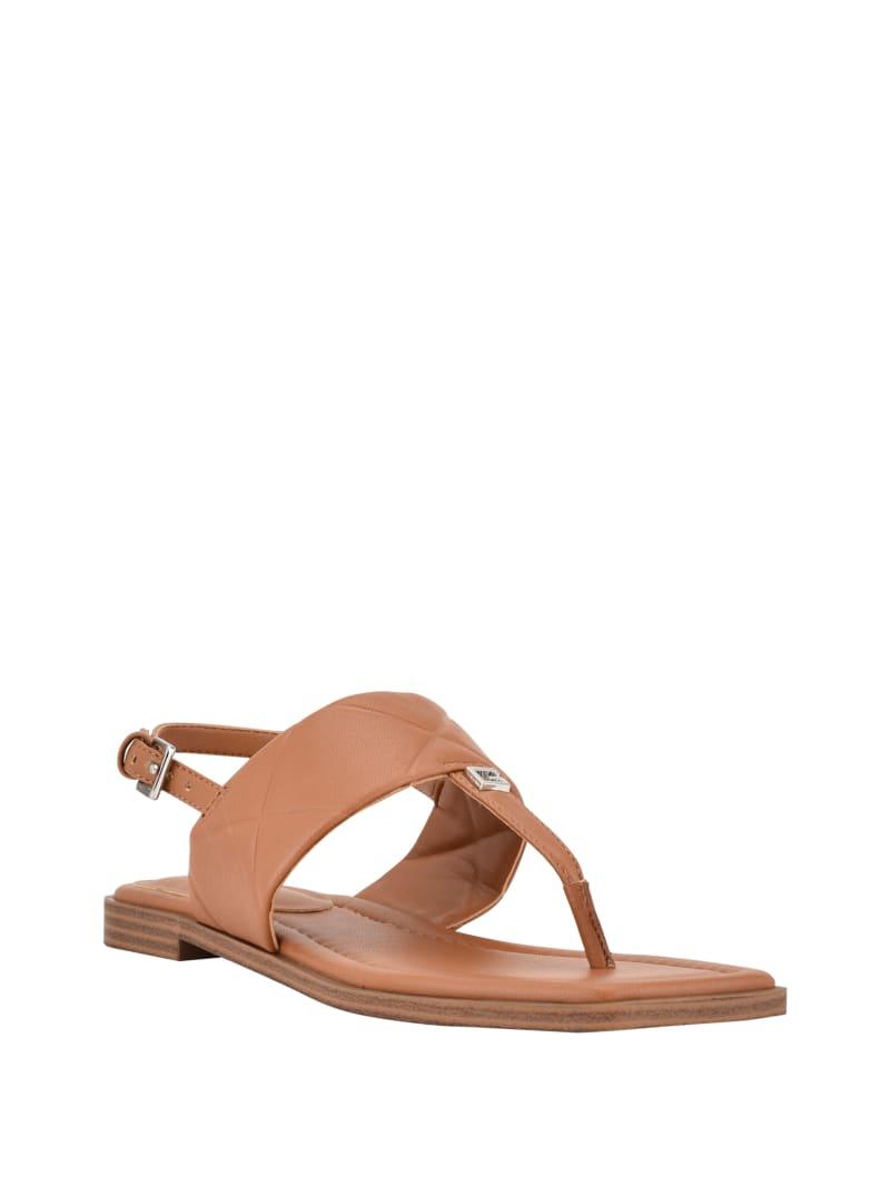 Arikka Quilted T-Strap Sandals