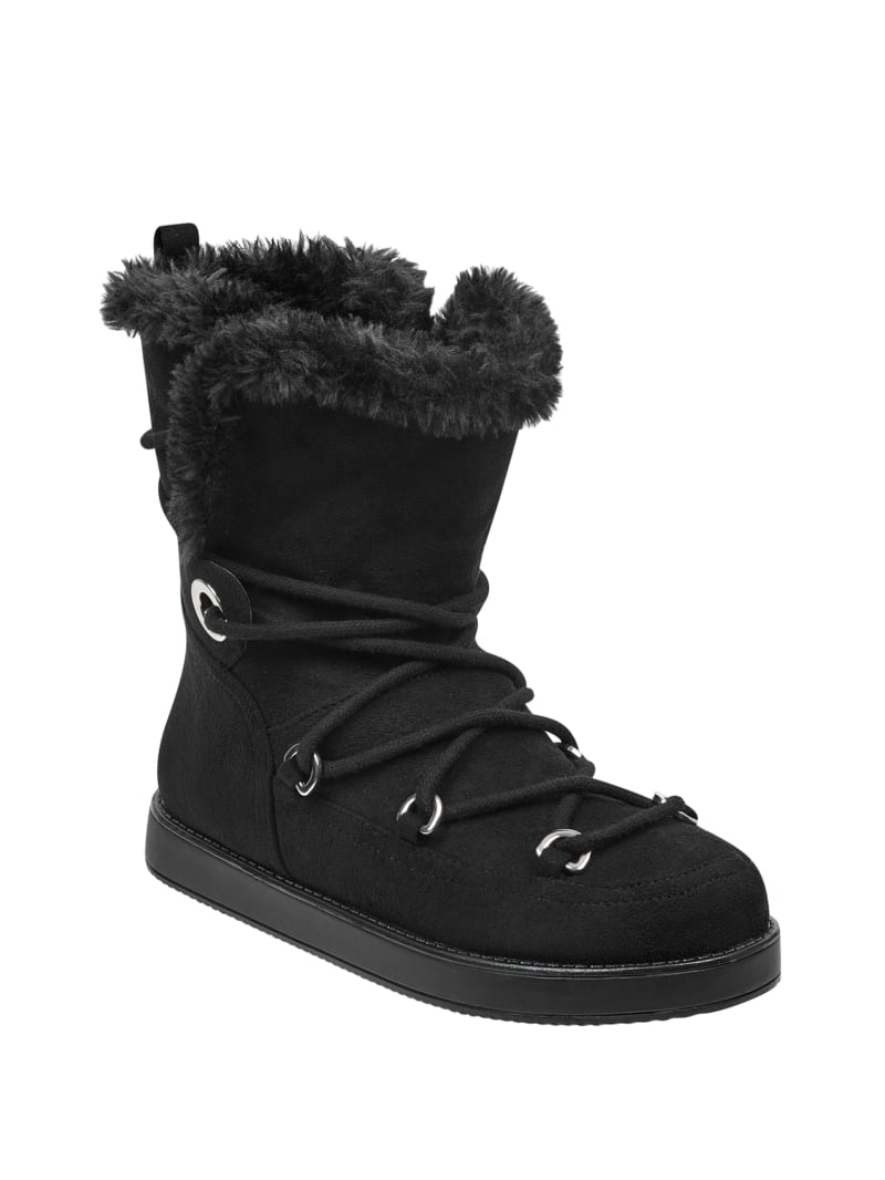 Arina Faux-Fur Lace-Up Boots