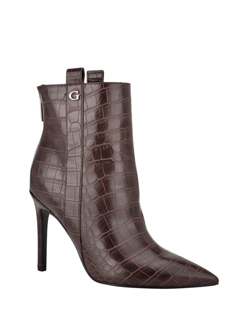 Baize Heeled Ankle Booties