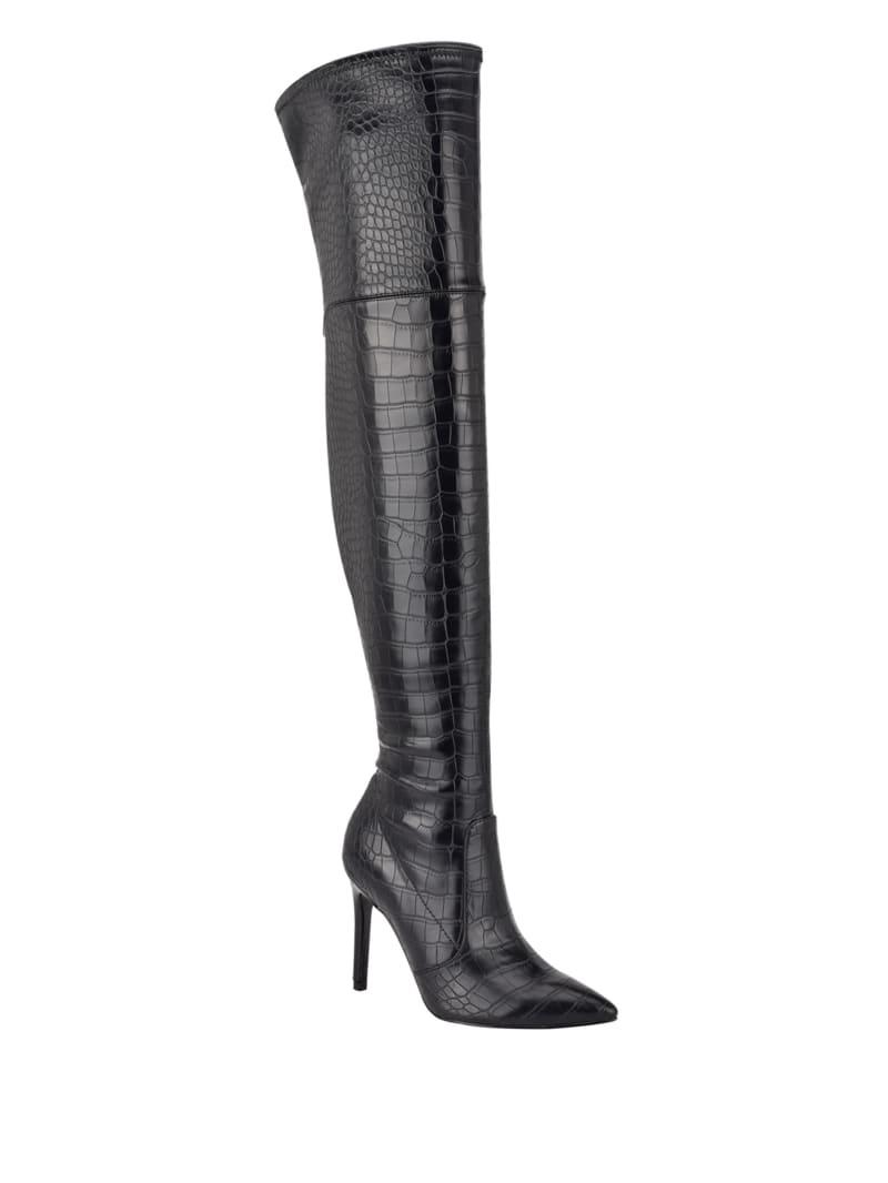Bonis Crocodile Stiletto Over-The-Knee Boots
