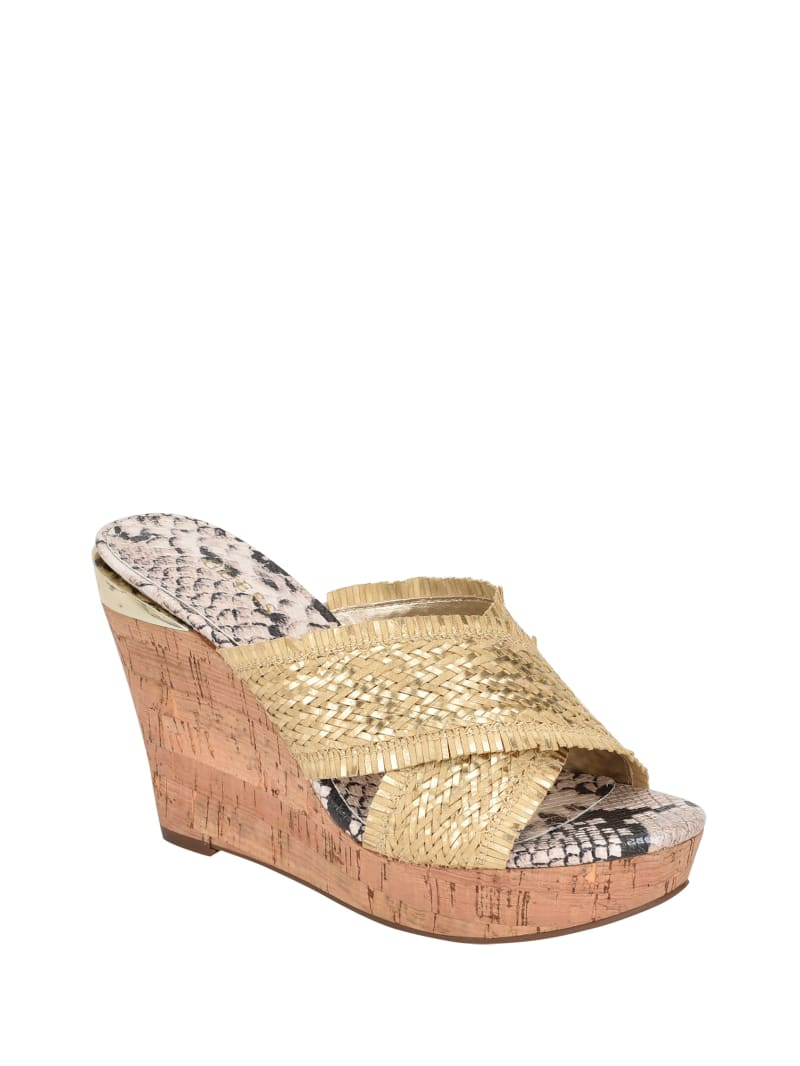 Bridle Wedge Sandals