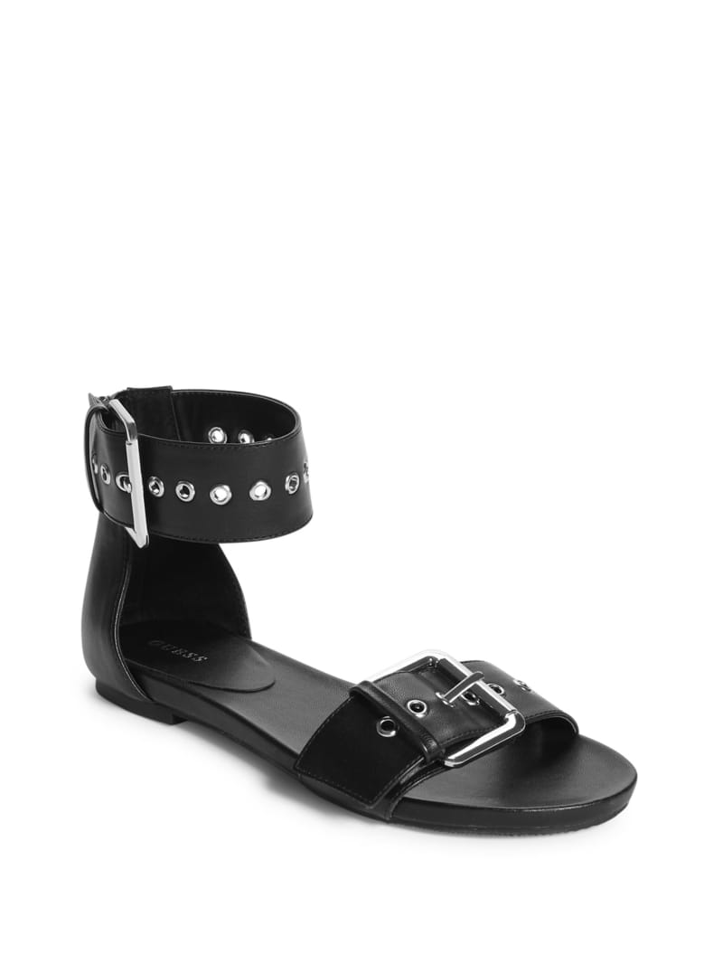 Buckles Double Strap Sandals