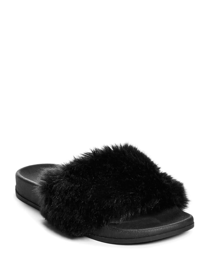 Buffie Faux-Fur Slide Sandals