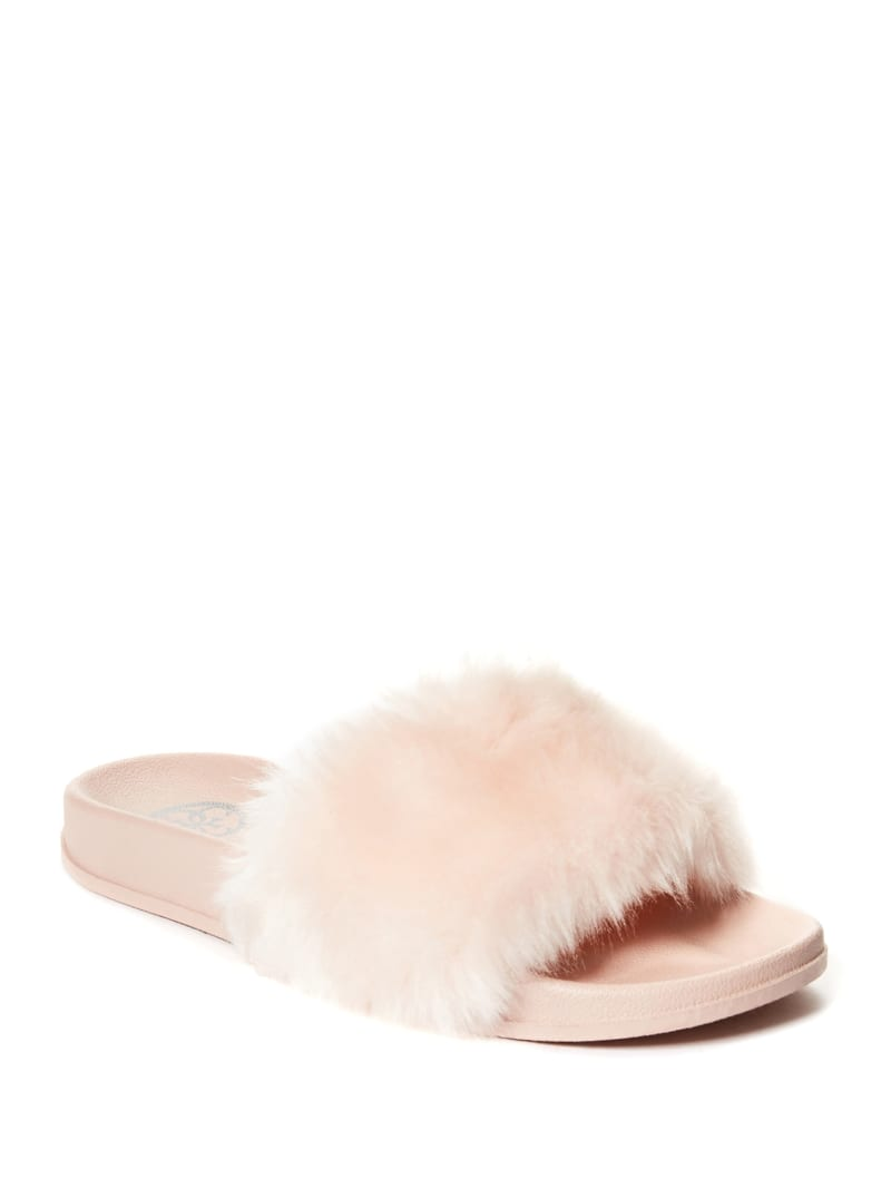 Buffie Faux-Fur Slide Sandals