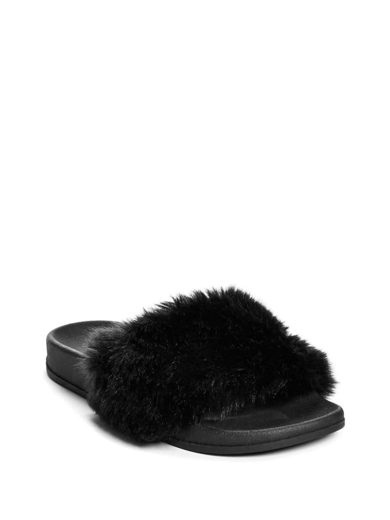 Buffie Leopard Faux-Fur Slide Sandals