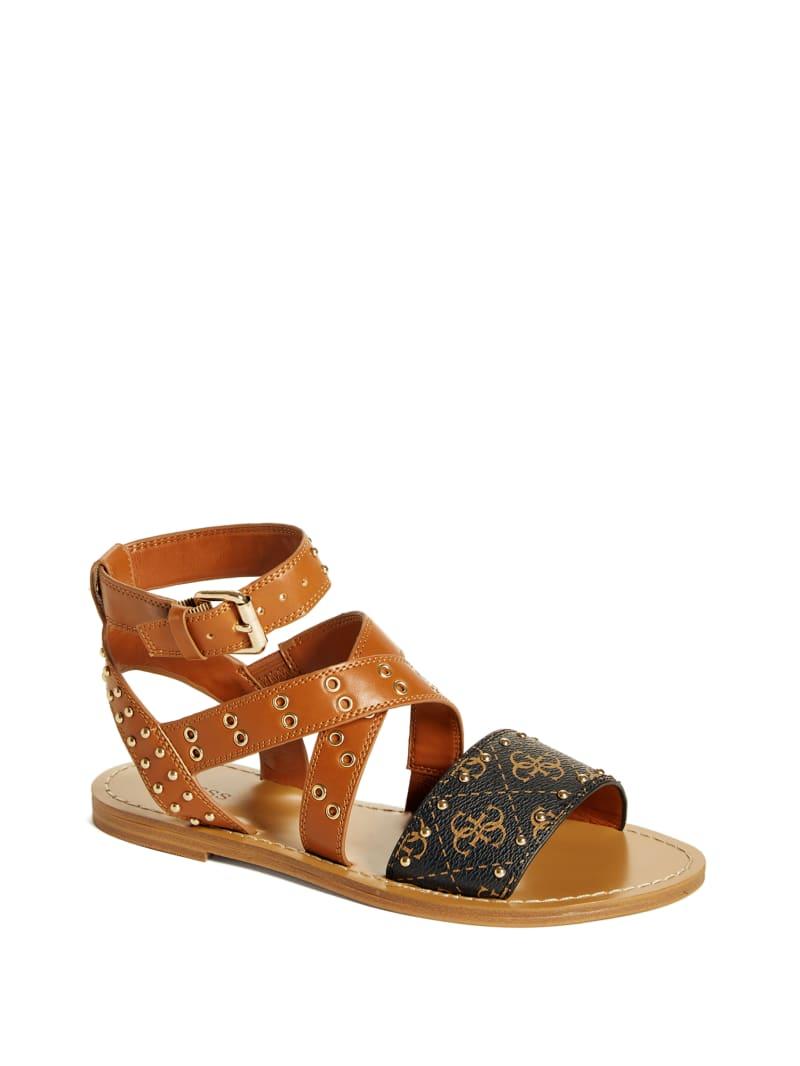 Cevie Grommet Flat Sandals