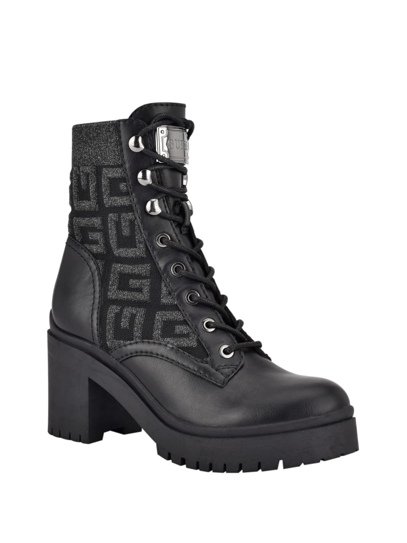 Clarion Knit Logo Combat Boots