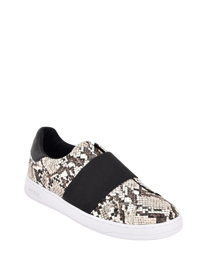 Connur Snakeskin Slip-On Sneakers