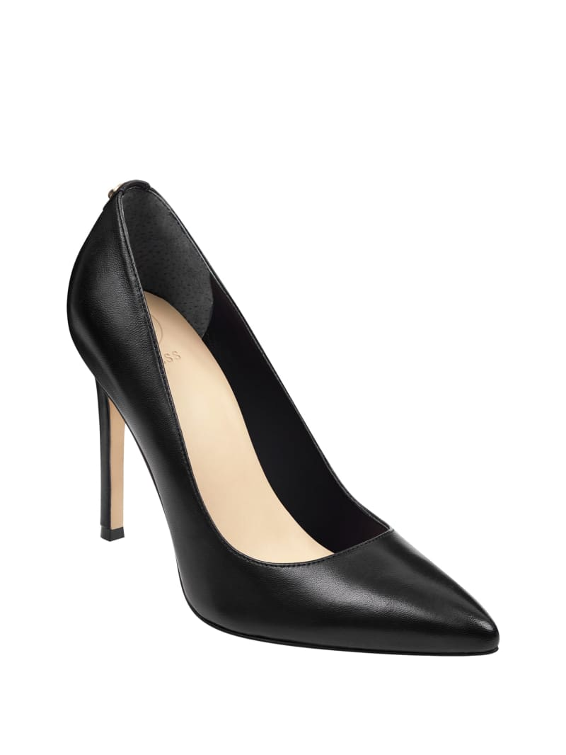 Pointed Faux-Leather Pumps