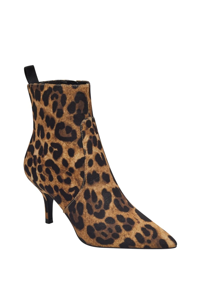 Deidra Leopard Kitten-Heel Booties