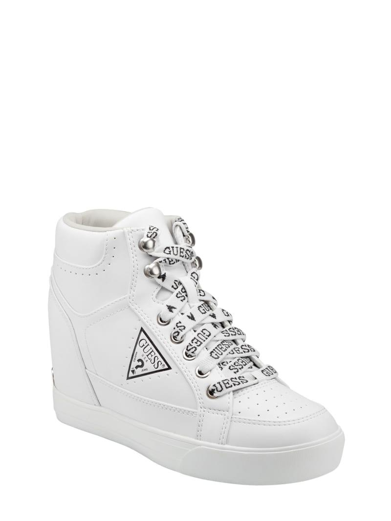 Demetra Logo-Lace Wedge Sneakers