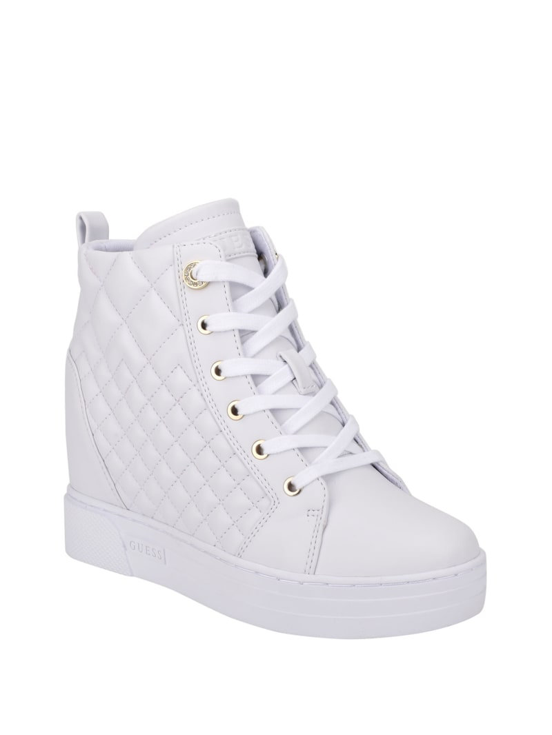 Fase Quilted Wedge Sneakers
