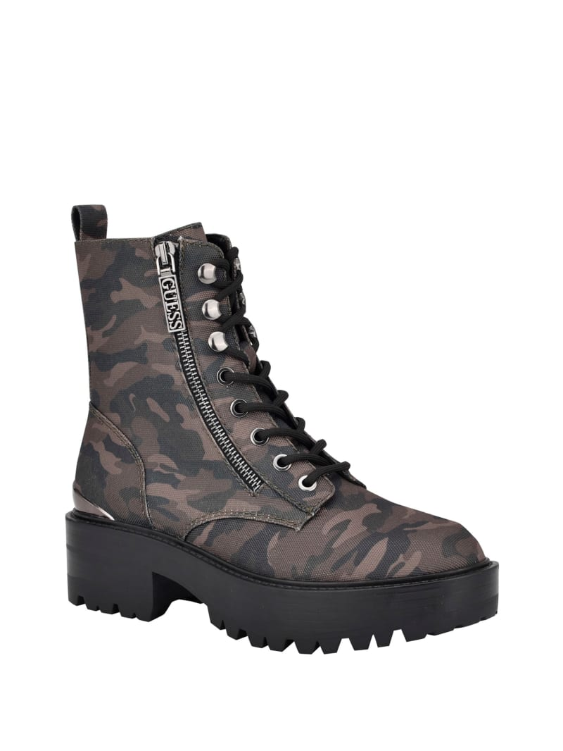 Fearne Camo Combat Boots
