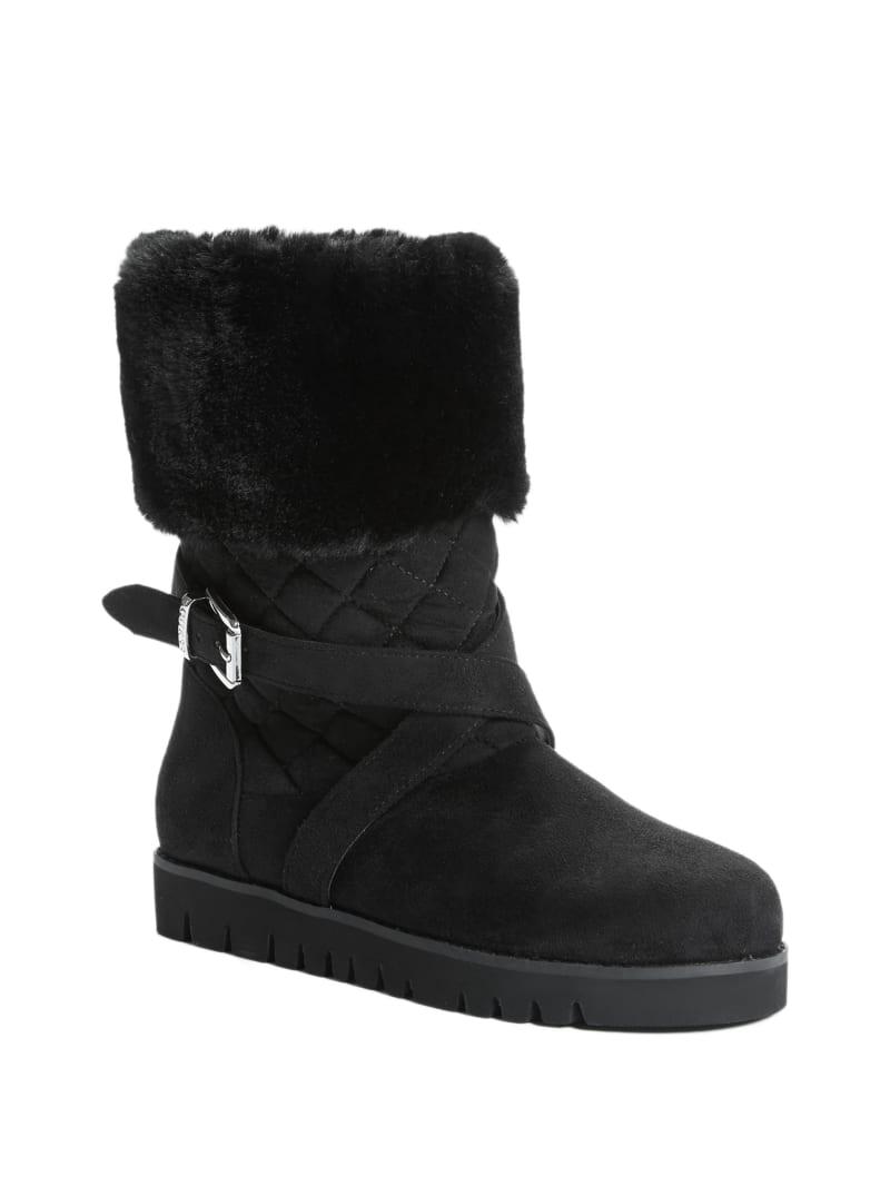 Ferris Faux-Fur Trim Ankle Boots