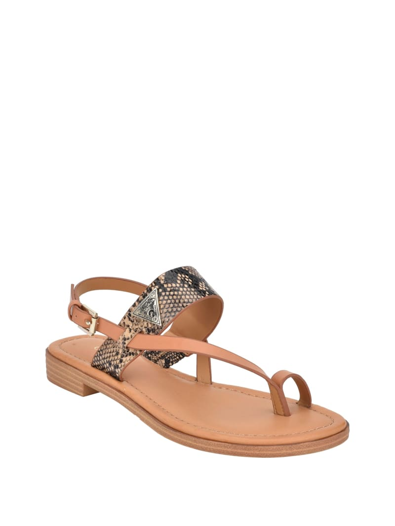Geesa Snake Toe Ring Sandals