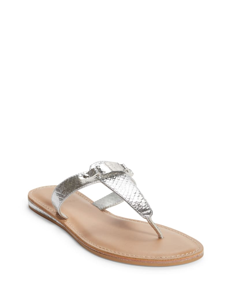 Jenza Snake T-Strap Sandals