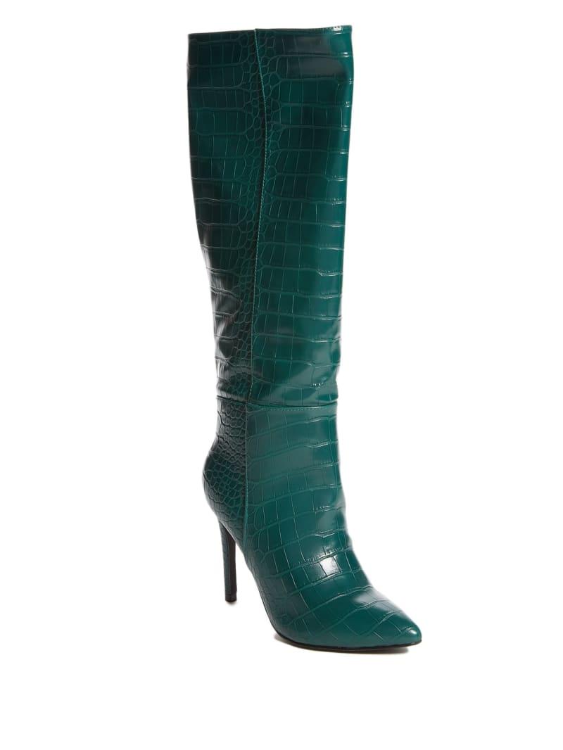 Croc Knee-High Boots