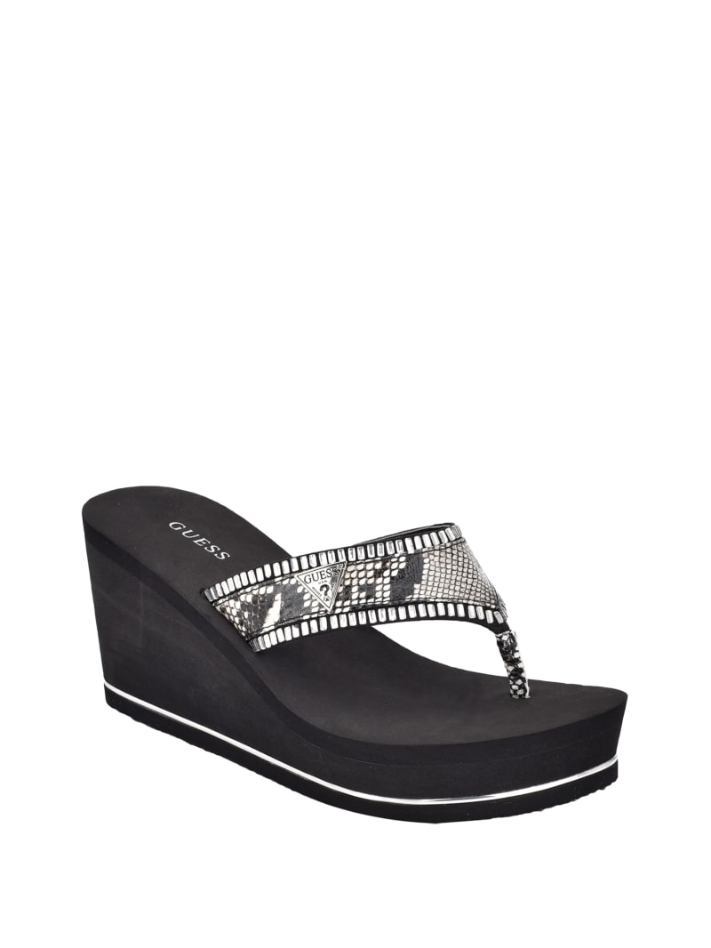 Sarry Snake Thong Wedges